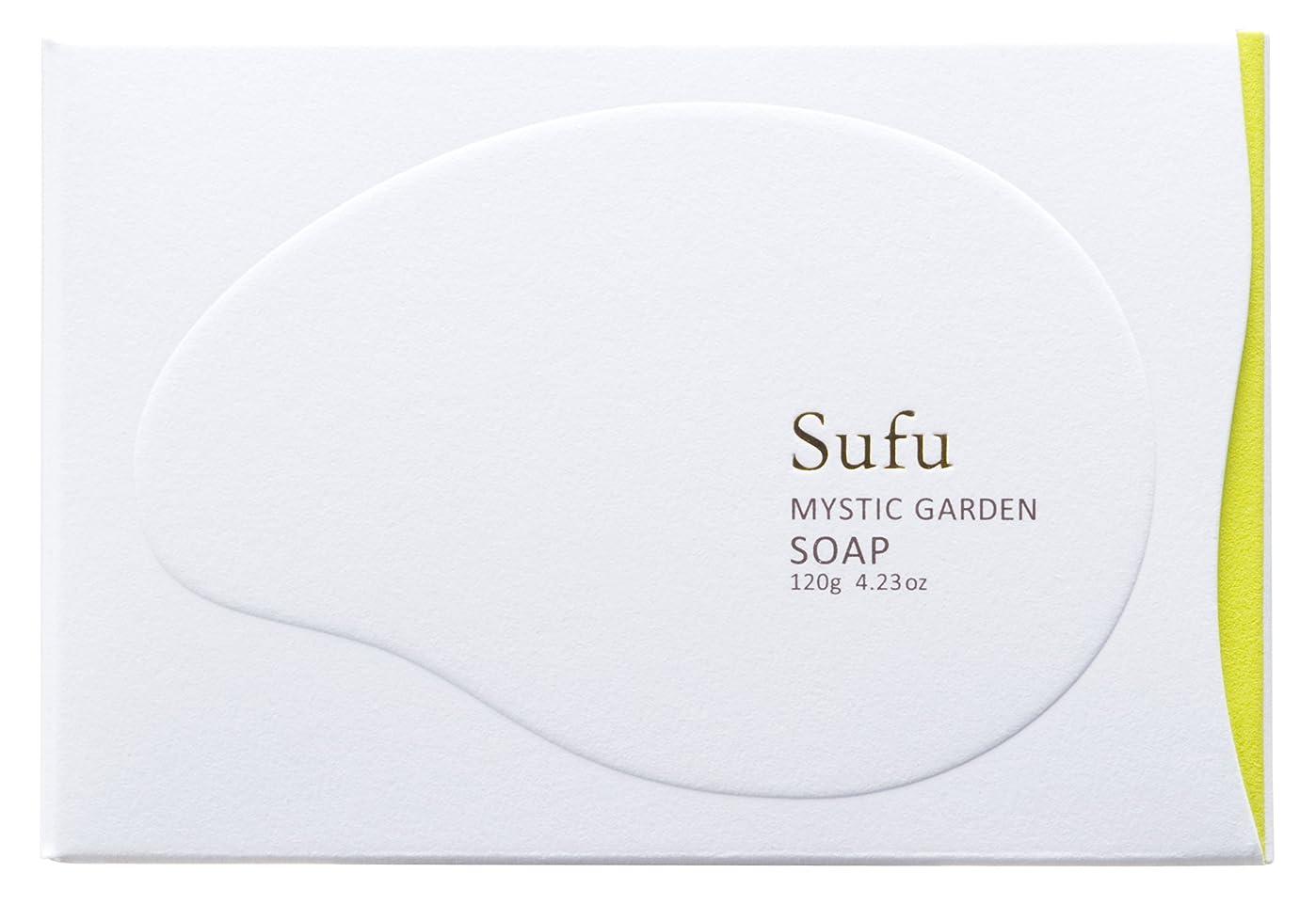 減る戦士合理的ペリカン石鹸 Sufu ソープ ミスティックガーデン 120g