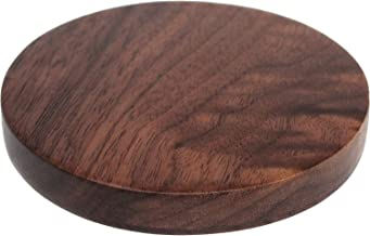 SOUOP Qi Wireless Charger - Walnut Wood Wireless Charge Pad for Qi-Enabled Devices - Wooden Fast Charging Base for iPhone 8/8 Plus, iPhone X, Samsung Note & Galaxy S8/S8+/S7/S7 Edge/S6 Edge+ & More