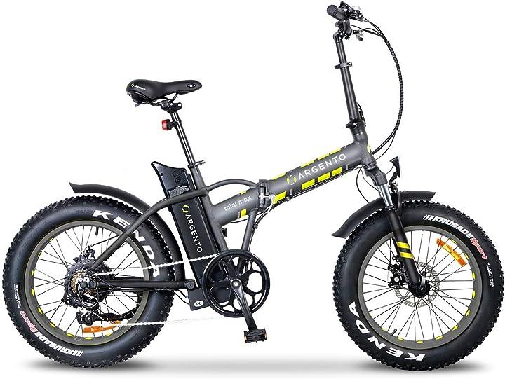 Bicicletta elettrica, unisex adulto, taglia unica argento minimax AB-MF-S20