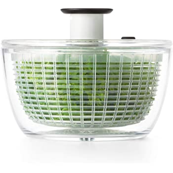 OXO 1045409BL Good Grips Little Salad & Herb Spinner,Clear,Small