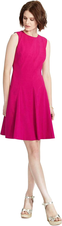 LAUREN RALPH LAUREN Fit & Flare Sleeveless Dress, Magenta, 12