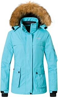 Women's Warm Parka Mountain Ski Fleece Jacket Waterproof Rain Coat