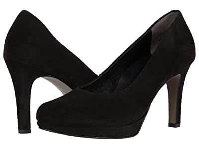 Paul Green Corey Pump (Black Suede) Women