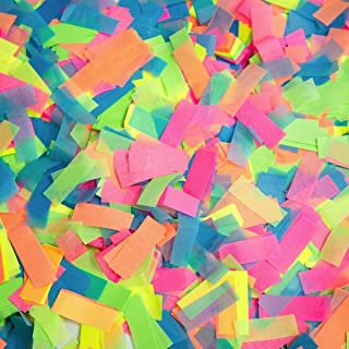 Ultimate Confetti Glow UV Multicolor Tissue Confetti-Biodegradable-Great for Glow Parties-Clubs-Blacklight Parties-Events