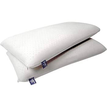 Vytex Cloud Pillow 100% Natural Latex Super Soft Plush Collection The Only Virtually Allergy Free Latex Super Soft Plush King 17 X 34 Inches Equivilent to 14 ILD with Cotton Zip Up Cover