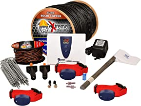 Extreme Dog Fence - Pro Grade DIY Complete Electric Dog Fence Kits for 1 or Multiple Pets - 14 Gauge Heavy Duty Boundary Wire - Waterproof Collars with 8 Levels Set Individually Per Each Dog