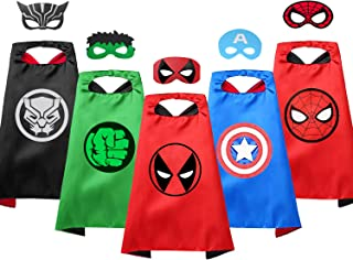 VOSOE Superhero Capes with Masks Cosplay Costumes Party Dress up Gift for Kids