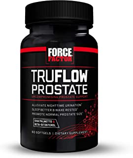 Force Factor TruFlow Prostate Health Support Supplement for Men with Beta Sitosterol, Saw Palmetto, and Mel...