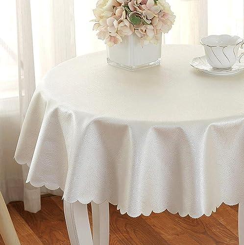 Jingdian fzw Mehrfarbige runde Tischdecke (Farbe   Weiß, Größe   Round 300)