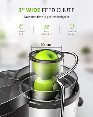 "Juicer, Juice Extractor, SHARDOR Centrifugal juicer with Big Mouth 3"" Feed Chute, Juicer Machine for Whole Fruits & V"