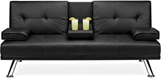 Best Choice Products Faux Leather Upholstered Modern...