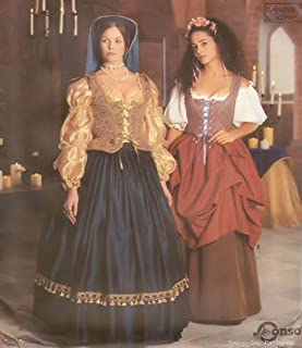 Simplicity 8715 Sewing Pattern, Misses' Renaissance Costume Collection, Size N (10,12,14)