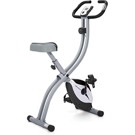 Ultrasport F-Bike Home Trainer 150 with Hand Pulse Sensors, Exercise Bike with Training Computer and Hand Pulse Sensors, Collapsible, Silver/Black