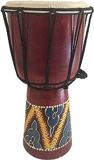 Djembe Drum Bongo Congo صدای حرفه ای طبل دستی چوبی درام آفریقایی - JIVE BRAND (12 اینچ بالا - رنگ شده / حک شده)