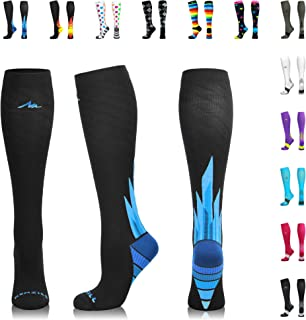 NEWZILL Compression Socks for Men & Women 20-30 mmHg - Athletic Fit