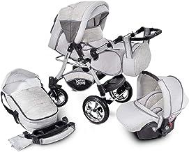 Buggie Urbano Vintage | 3-in-1-System | Kinderwagen, Kombikinderwagen, Babyschale, Autositz System | Zwei-Wege-Griff | Travel System | Moderner, Leichter Trolley mit Allem Zubehör Inklusive