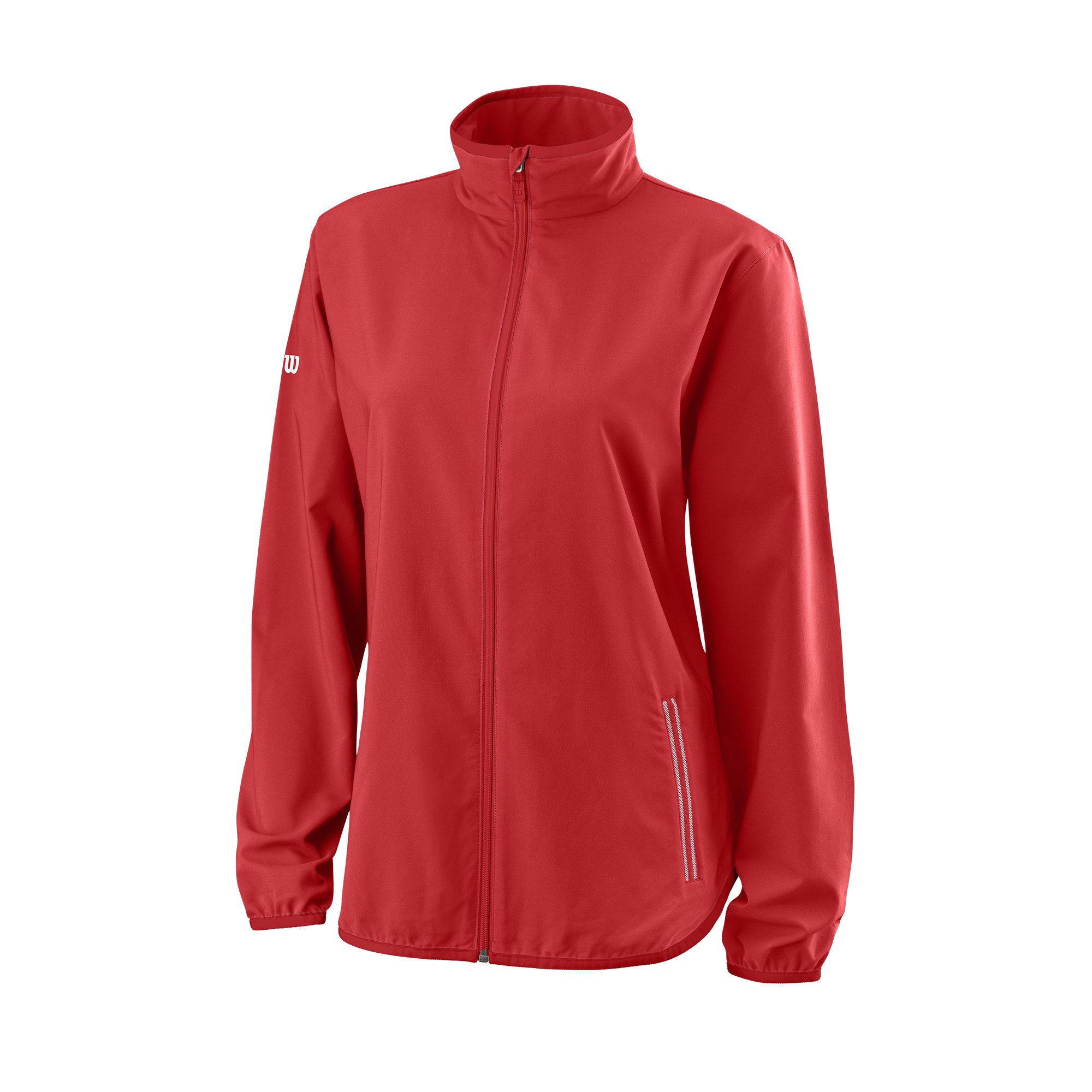 Wilson Damen Trainingsjacke, W Team Woven Jacket, Polyester, Rot/Weiß, Größe: