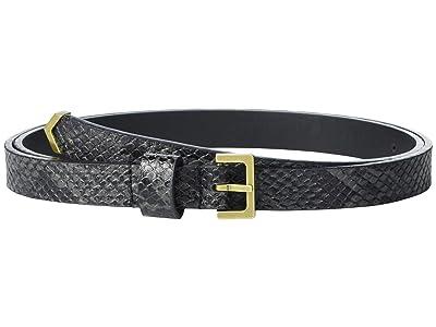AllSaints 18 mm Metal Tip Belt (Black) Women