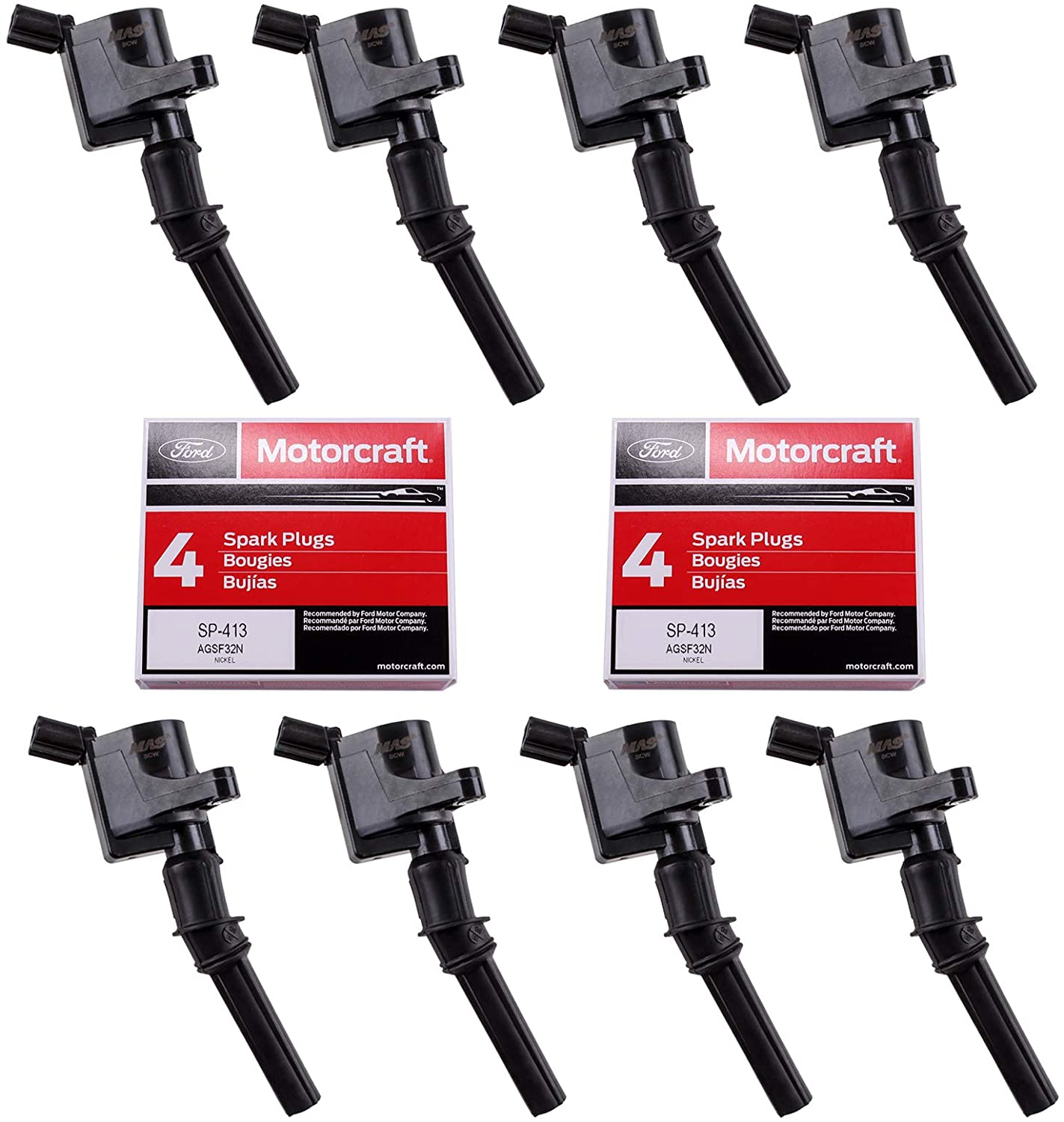 MAS Ignition Coils DG508 Discount is also Max 76% OFF underway and OEM Spark Compatible SP413 wi Plugs
