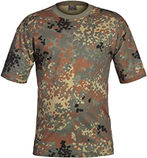 Military Combat T-Shirt German Army Flecktarn Camouflage SIZE M