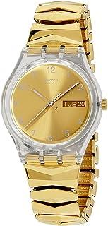 Swatch Originals Quartz Movement Gold Dial Ladies Watch GE708A