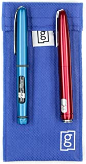 Glucology Insulin Pen Cooling Pouches | Fits 2 insulin pens | Keeps pens cool for upto 36 hours (Blue)