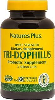 NaturesPlus Tri-Dophilus - 3 Billion Cells, 120 Vegetarian Capsules - Maximum Potency Probiotic Supplement - Friendly Inte...