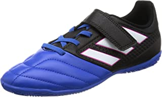 adidas Ace 17.4 in J H&L Junior Indoor Football Trainers (UK 5 US 5.5 EU 38, Black White Blue BB5587)