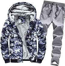 iLUGU Outwear Suit Mens Hoodie Winter Camouflag Cute Sweatshirts Warm Fleece Zipper Outwear