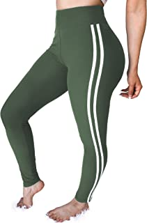Enggras Womens Capri Leggings Fitted Yoga Running Stretch Tights Workout Leggings Jogger Pants
