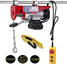 LIMICAR 1760LBS Overhead Lift Electric Hoist Crane Garage Ceiling Pulley Winch Remote Control Power System with Premium Straps 6.6'x3
