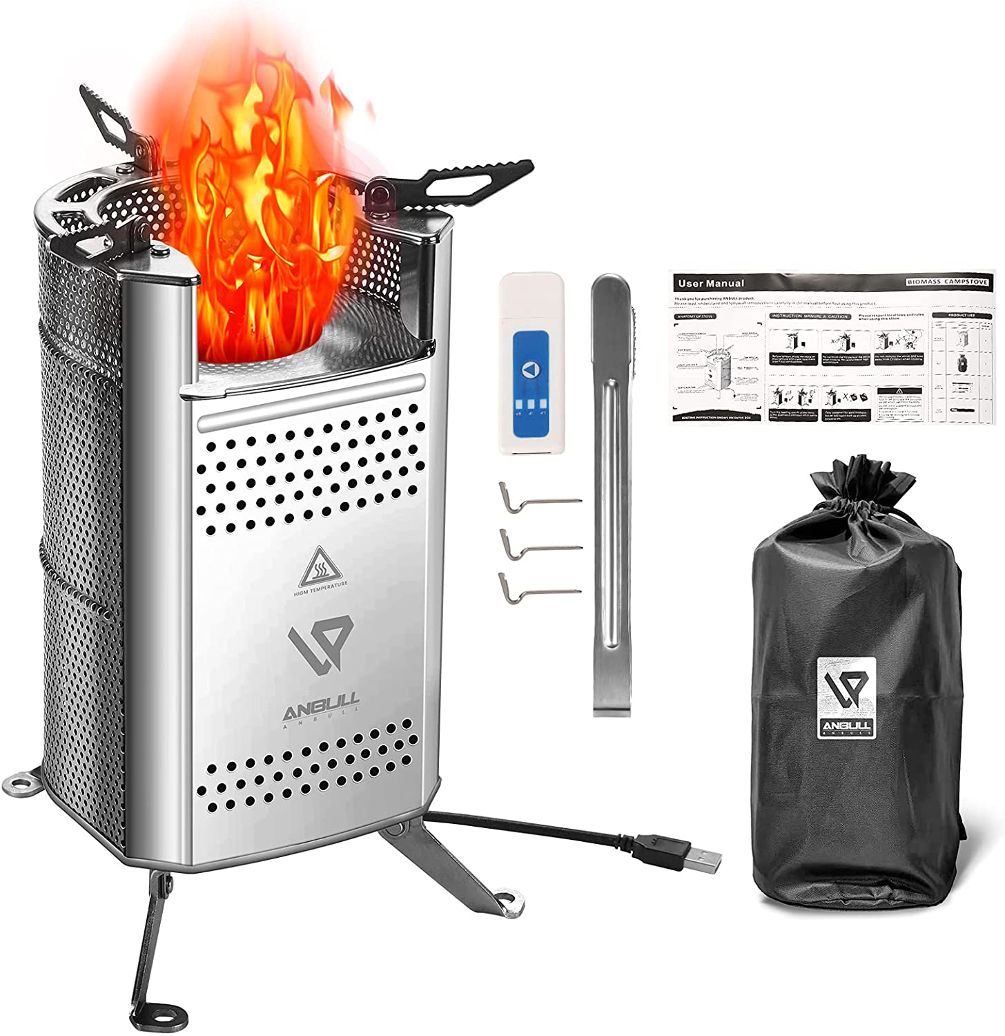 Anbull Camping Stove Biomass Stoves for Seattle Mall Compact Camp El Paso Mall Kit