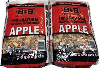 B&B Apple Wood Smoking Chips - 100% Natural, Competition Grade Bundle - Pack of 2