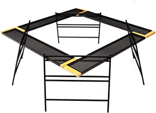 Ms. RAJA 焚火台 テーブル セット 収納ケース付き 耐火 変形自在 テーブル プレート アイアンレッグ 焚き火テーブル アウトドア キャンプ 用品 グッズ 30日保証付き