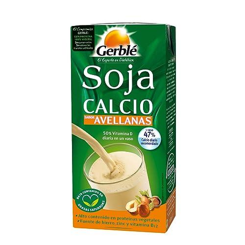 Gerblé Bebida de Soja Calcio con Sabor Avellanas - 1000 ml