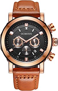 OCHSTIN 2017 Fashion Luxury Men Watch Genuine Leather Quartz Luminous Wristwatch Water-Proof Chronograph Man Casual Watch ...