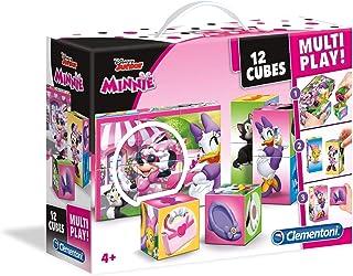 Clementoni Disney Minnie Mouse 12 Cubes Multi Play Puzzle Game