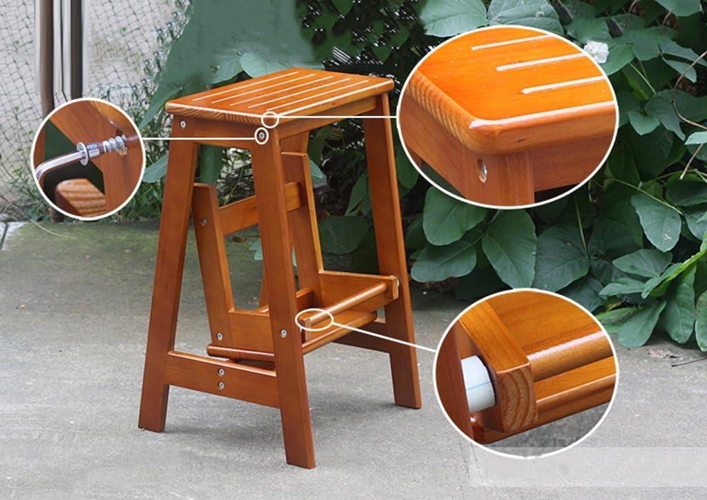 Petit support en bois d'intérieur de tabouret pliable d'échelle de 2 niveaux d'échelle pour le balcon de salon (Couleur : B) D