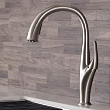 Kraus KPF-1676SFS Odell Dual Function Pull, Faucets for Kitchen Sinks, Single-Handle, KPF-1676 Spot Free Stainless Steel