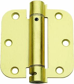 Global CPS3535-R-US4-M Commercial Grade, Full Mortise Spring Hinge, Radius Shape, Satin Brass - Pack of 2