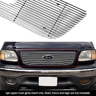 APS F65722A Polished Aluminum Billet Grille Bolt Over for select Ford F-150 Models