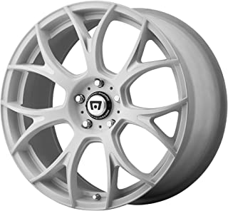 MOTEGI MR126 Matte White With Milled Accents Wheel Chromium (hexavalent compounds) (19 x 8.5 inches /0 x 57 mm, 32 mm Offset)