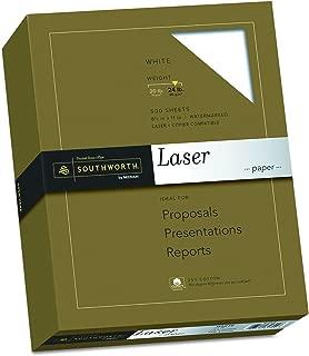 Bright White 8.5 x 11 500 Sheets 96 Brightness 24 lb//90 gsm Royal 25/% Cotton Business Paper 29696