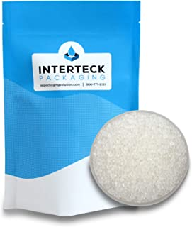 INTERTECK PACKAGING 1 LB Premium Quality White Silica Gel Bulk Desiccant Beads, Industry Standard 2-5mm - Rechargeable (No...
