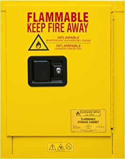 Durham 1004M-50 Flammable Safety Cabinet, 1 Manual Door, 4 gal, 17 3/8