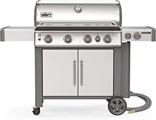 Weber 67006001 Genesis II S-435 4-Burner Natural Gas Grill, Stainless Steel
