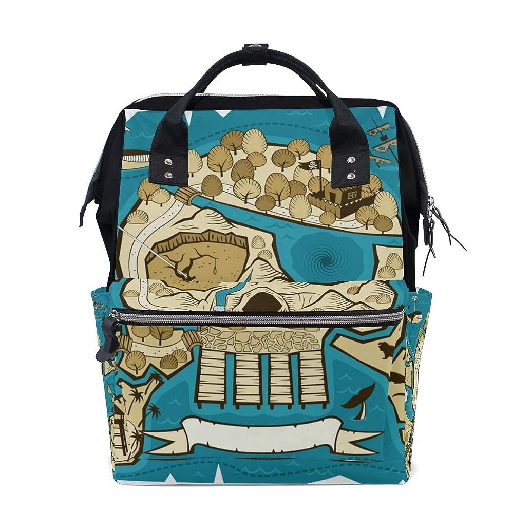 Skull Head Pirate Map School Backpack Large Capacity Mummy Bags Laptop Handbag Casual Travel Rucksack Satchel For Women Men Adult Teen Children