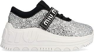 MIU MIU Luxury Fashion Womens 5E760CFD0853J2PF0118 Silver Sneakers | Fall Winter 19