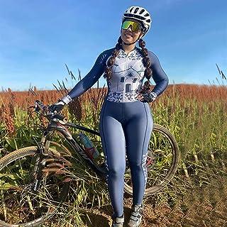 Frauen Radfahren Jersey Triathlon Jumpsuit Radfahren Fahrrad Jersey Set Lange Hose Ärmel Fahrrad Sport Dünne Haftanzug (Co...