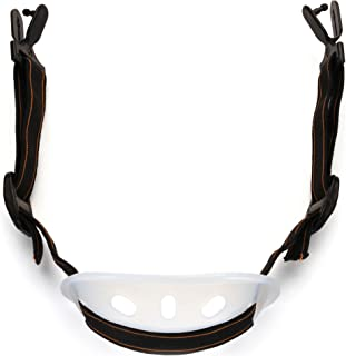 Pyramex HPCSTRAP Universal Hard Hat Chin Strap with Black Elastic Strap and Chin Cup, Black